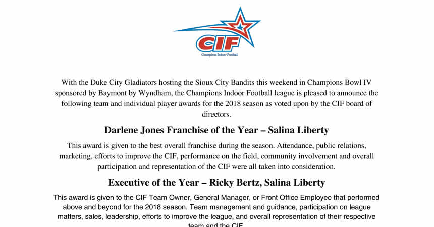 2018 CIF Board of Directors Awards Page 1